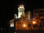 La chiesa di Vernazza di notte