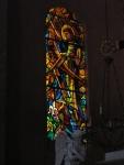 Vetrata della chiesa di della citta' alta di Calvi