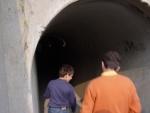 Una delle numerose gallerie che collegavano i reparti produttivi del dinamitificio