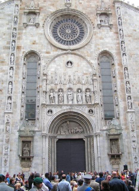 Particolare del Duomo di Como