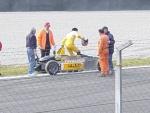 Formula Junior: recupero di un mezzo al termine della gara