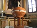 Fonte battesimale nella chiesa della SS.Annunziata