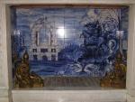 Particolare dell'interno del camino di una stanza del Palazzo Ducale