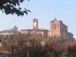 Vista del centro storico, in attesa dell'arrivo dei primi mezzi